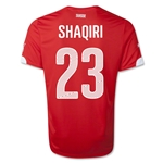 Switzerland 2014 SHAQIRI Home Soccer Jersey
