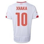 Switzerland 2014 XHAKA Away Soccer Jersey