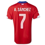 Chile 2014 A. SANCHEZ Home Soccer Jersey