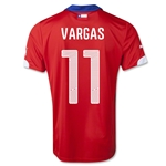 Chile 2014 VARGAS Home Soccer Jersey