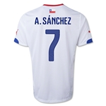 Chile 2014 A. SANCHEZ Away Soccer Jersey