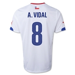Chile 2014 A. VIDAL Away Soccer Jersey