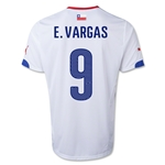 Chile 2014 E. VARGAS Away Soccer Jersey