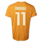 Cote d'Ivoire 14/15 DROGBA Home Soccer Jersey