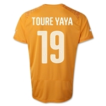 Cote d'Ivoire 14/15 TOURE YAYA Home Soccer Jersey