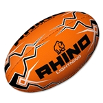 Rhino Orange Lightning Rugby Ball (size 4)