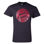 Bayern Munich Metallic Crest T-Shirt (Black)