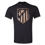 Atletico Madrid Metallic Crest T-Shirt (Black)