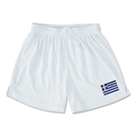 Greece Team Soccer Shorts (White)