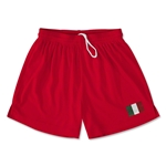 Italy Team Soccer Shorts (Red)