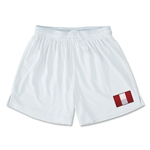 Peru Team Soccer Shorts (White)
