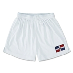 Dominican Republic Team Soccer Shorts (White)