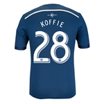 Vancouver Whitecaps 2014 KOFFIE Authentic Secondary Soccer Jersey