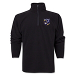 West Virginia University Rugby 1/4 Zip Fleece Jacket (Black)