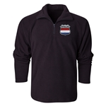 Netherlands Flag Crest 1/4 Fleece Pullover
