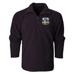 Sweden Flag Crest 1/4 Fleece Pullover