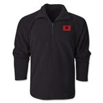 Albania Flag 1/4 Fleece Pullover