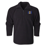 Barbados Flag 1/4 Fleece Pullover