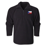 Czech Republic Flag 1/4 Fleece Pullover