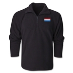 Luxembourg Flag 1/4 Fleece Pullover