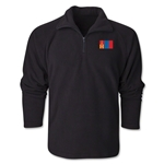 Mongolia Flag 1/4 Fleece Pullover