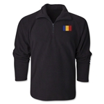 Romania Flag 1/4 Fleece Pullover