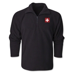 Switzerland Flag 1/4 Fleece Pullover