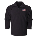 USA Flag 1/4 Fleece Pullover