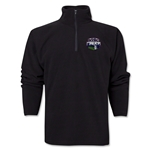 New York Rugby Club 1/4 Zip Fleece Jacket (Black)