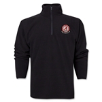 University of Alabama Rugby 1/4 Zip Fleece Jacket (Black)