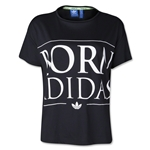 adidas Orginals Indie Graphic Women's T-Shirt (Black/White)