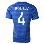 Brazil 2014 DAVID LUIZ Authentic Away Soccer Jersey