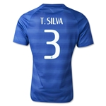 Brazil 14/15 T. SILVA Authentic Away Soccer Jersey