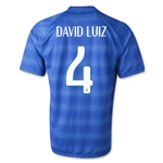 Brazil 2014 DAVID LUIZ Away Soccer Jersey