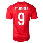 England 14/15 STURRIDGE Authentic Away Soccer Jersey