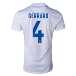 England 2014 GERRARD Authentic Home Soccer Jersey