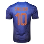 Netherlands 2014 SNEIJDER Authentic Away Soccer Jersey