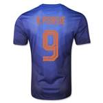 Netherlands 2014 V. PERSIE Authentic Away Soccer Jersey