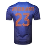 Netherlands 2014 VAN DER VAART Authentic Away Soccer Jersey