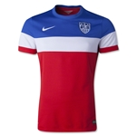 USA 2014 Authentic Away Soccer Jersey