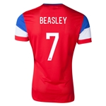 USA 14/15 BEASLEY Authentic Away Soccer Jersey