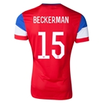 USA 14/15 BECKERMAN Authentic Away Soccer Jersey