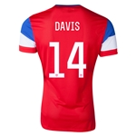 USA 14/15 DAVIS Authentic Away Soccer Jersey