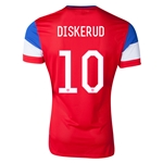 USA 14/15 DISKERUD Authentic Away Soccer Jersey