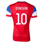 USA 2014 DONOVAN Authentic Away Soccer Jersey