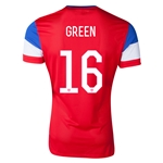 USA 14/15 GREEN 16 Authentic Away Soccer Jersey