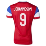 USA 2014 JOHANNSSON Authentic Away Soccer Jersey