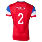 USA 2014 YEDLIN Authentic Away Soccer Jersey