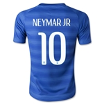 Brazil 2014 NEYMAR JR Youth Away Soccer Jersey