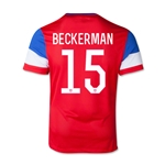 USA 2014 BECKERMAN Youth Away Soccer Jersey
